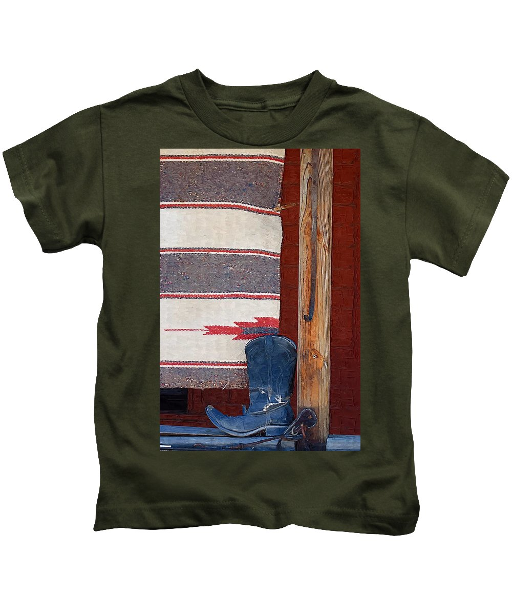Boots Kids T-Shirt featuring the photograph Long Way Home by Donna Bentley