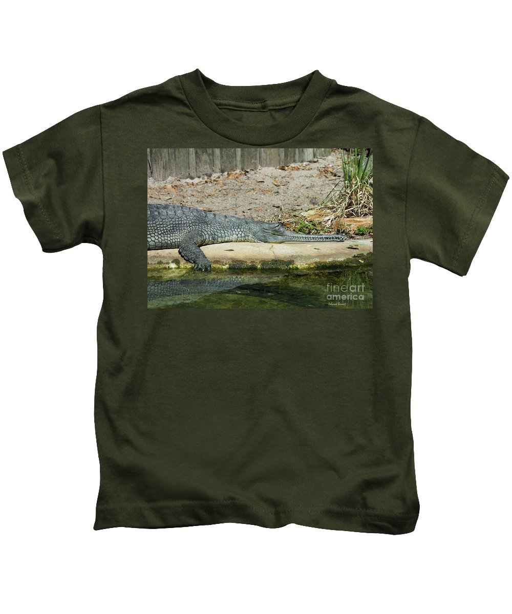Alligator Kids T-Shirt featuring the photograph Look At All Those Teeth by Deborah Benoit