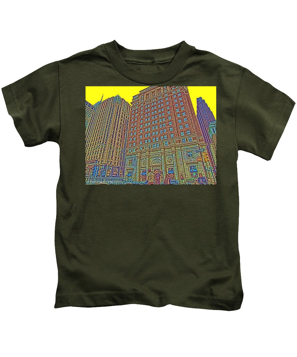 Philadelphia Kids T-Shirt featuring the digital art Looking Up In Love Park by Vincent Green