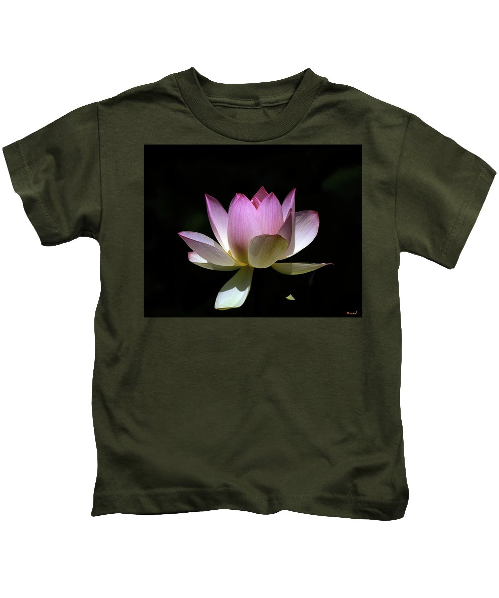 Nature Kids T-Shirt featuring the photograph Lotus--purity 24o by Gerry Gantt