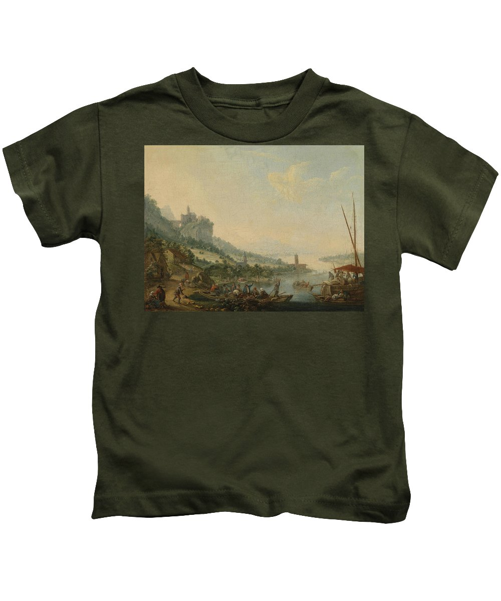 Louis Chalon (1687-1741) Kids T-Shirt featuring the painting Louis Chalon by MotionAge Designs