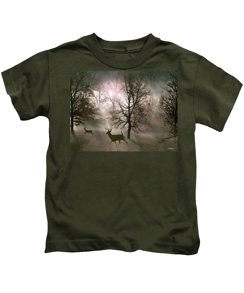 Wildlife Kids T-Shirt featuring the digital art Love In The Wild by Bill Stephens