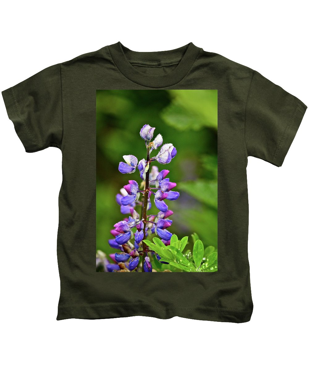 Lupine Kids T-Shirt featuring the photograph Lovely Lupine by Diana Hatcher