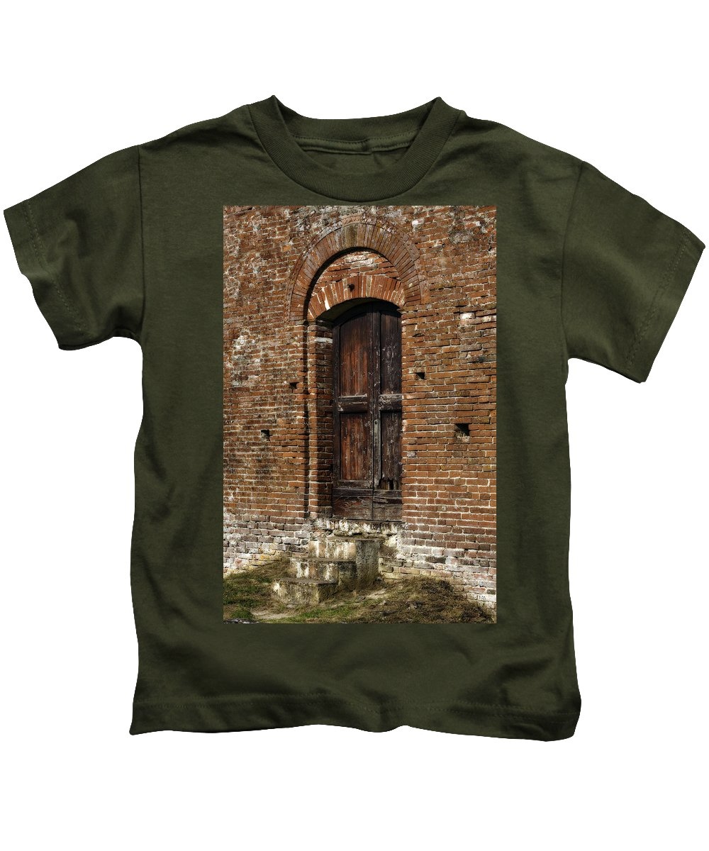 Door Kids T-Shirt featuring the photograph Lovely Old Door by Marilyn Hunt
