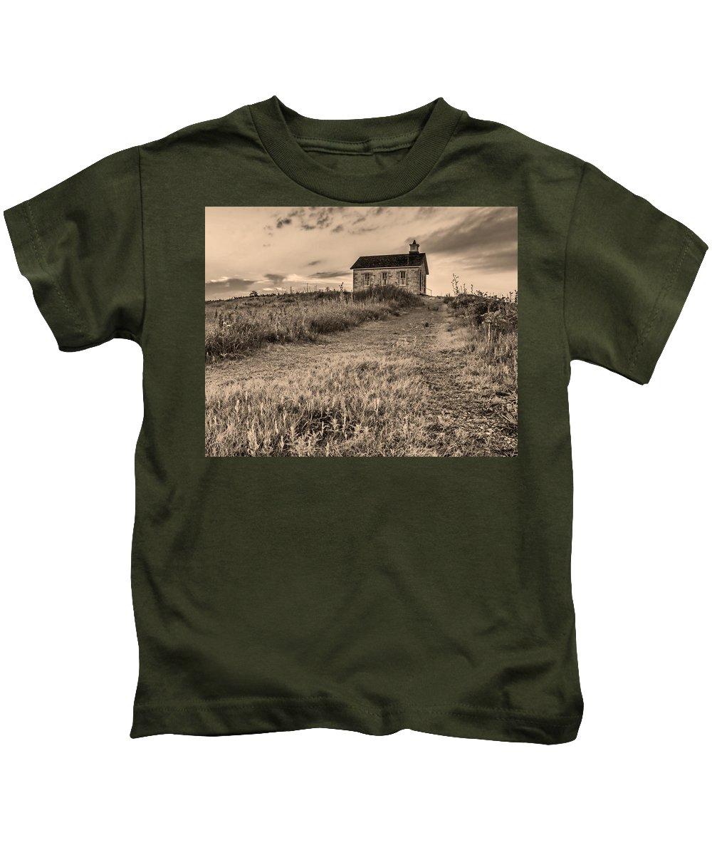 Lower Fox Creek School Kids T-Shirt featuring the photograph Lower Fox Creek School by Don Spenner