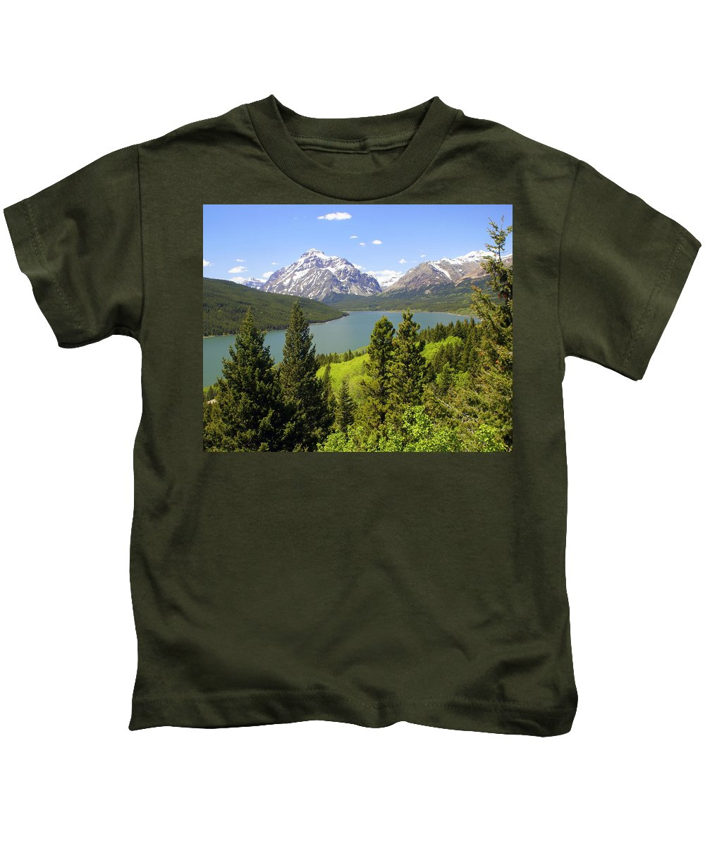 Two Medicine Lake Kids T-Shirt featuring the photograph Lower Two Medicine Lake by Marty Koch