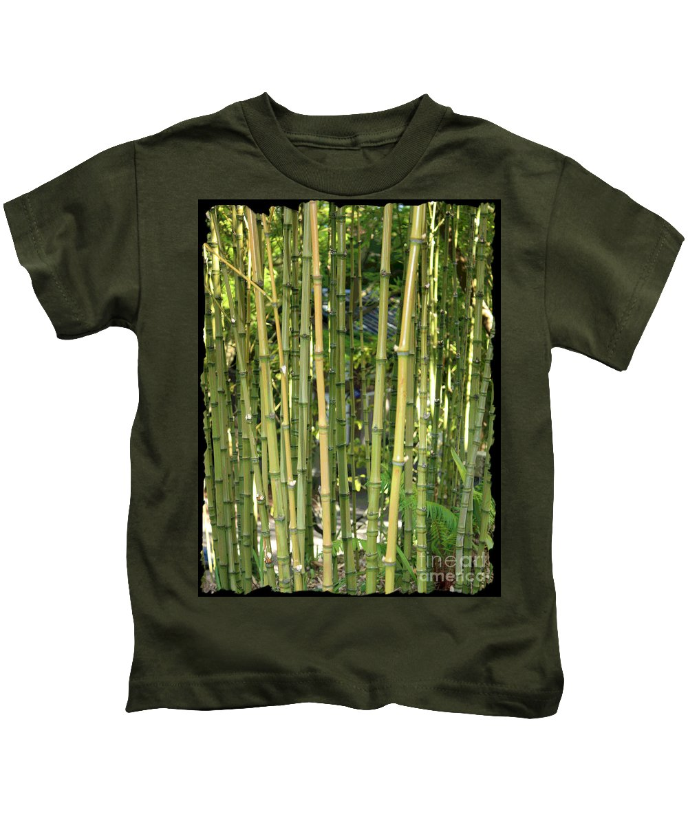 Bamboo Kids T-Shirt featuring the photograph Lucky Bamboo by Carol Groenen