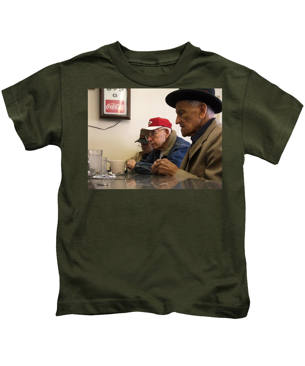 Diner Kids T-Shirt featuring the photograph Lunch Counter Boys by Tim Nyberg