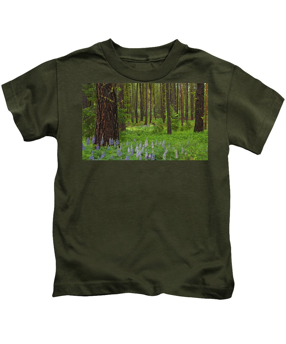 Forest Kids T-Shirt featuring the photograph Lupine Carpet by Mike Dawson