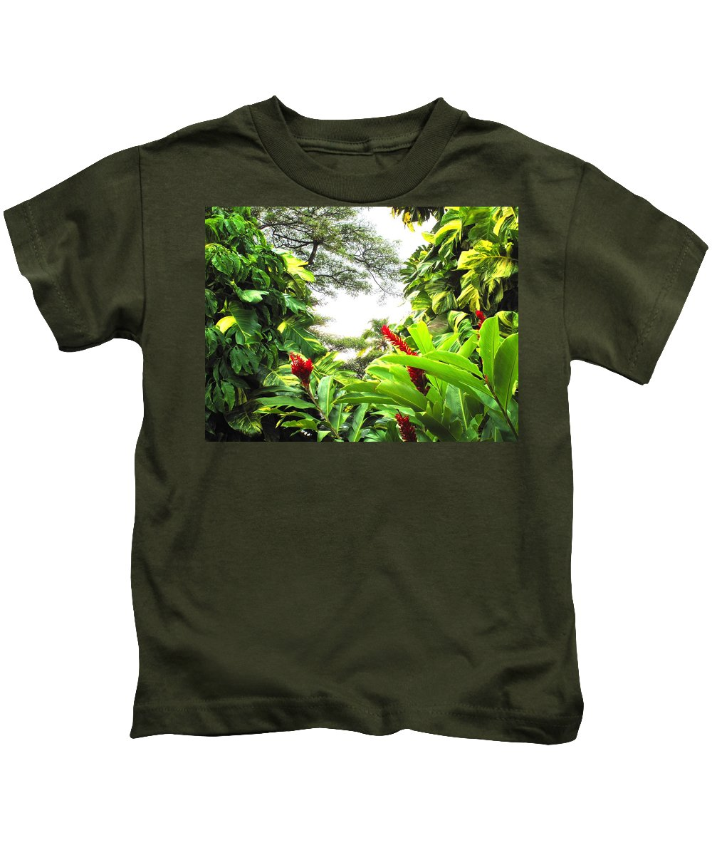 St Kitts Kids T-Shirt featuring the photograph Lush by Ian MacDonald
