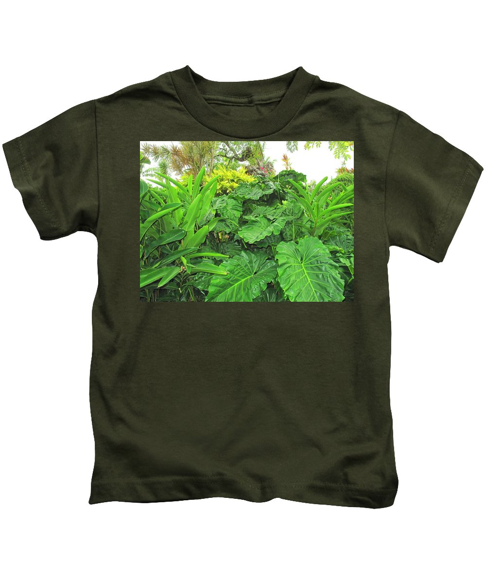 Vegetation Kids T-Shirt featuring the photograph Lust Too by Ian MacDonald