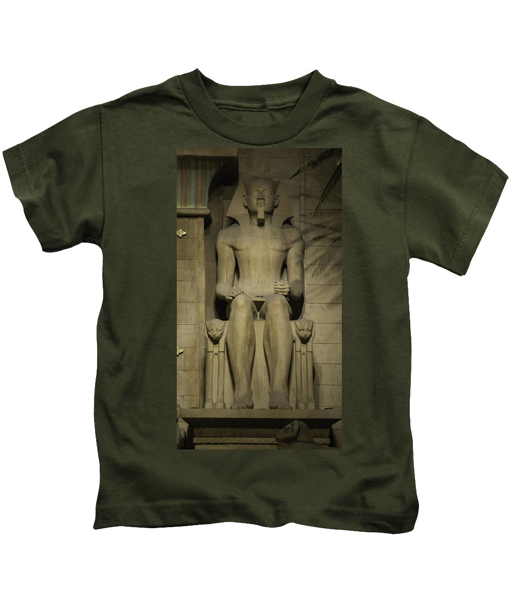 2015 Kids T-Shirt featuring the photograph Luxor Interior 3 by Teresa Mucha