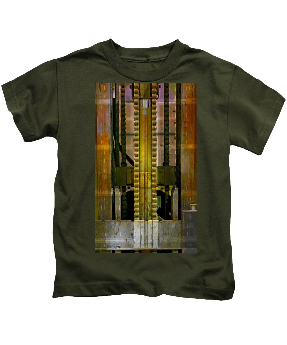 Texture Kids T-Shirt featuring the photograph Machina by Skip Hunt
