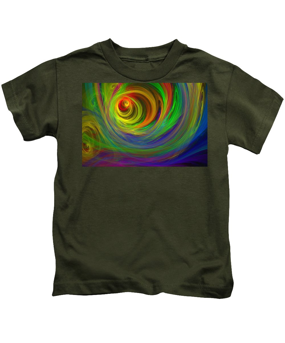 Abstract Kids T-Shirt featuring the digital art Madman's Sunrise by Lyle Hatch