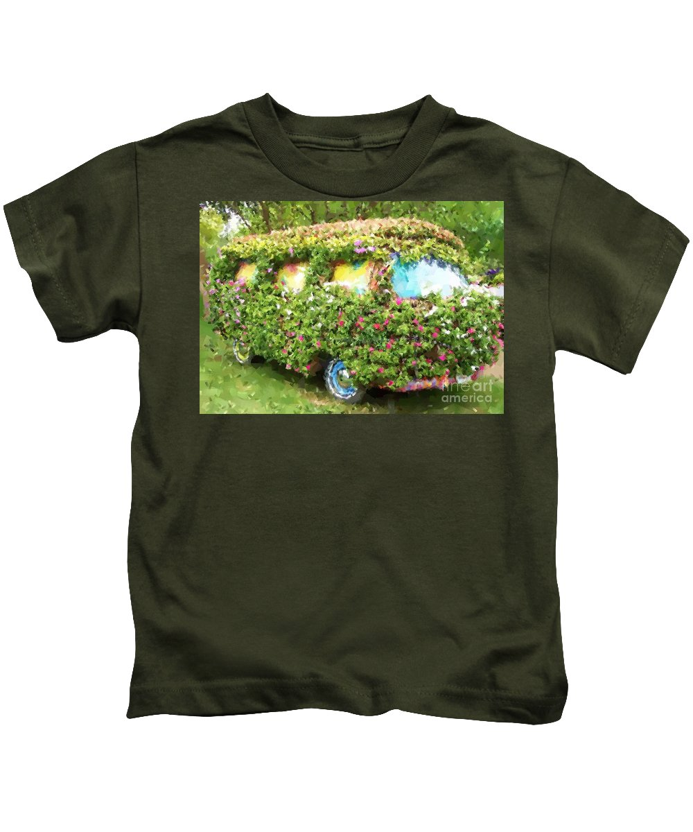 Volkswagen Kids T-Shirt featuring the photograph Magic Bus by Debbi Granruth
