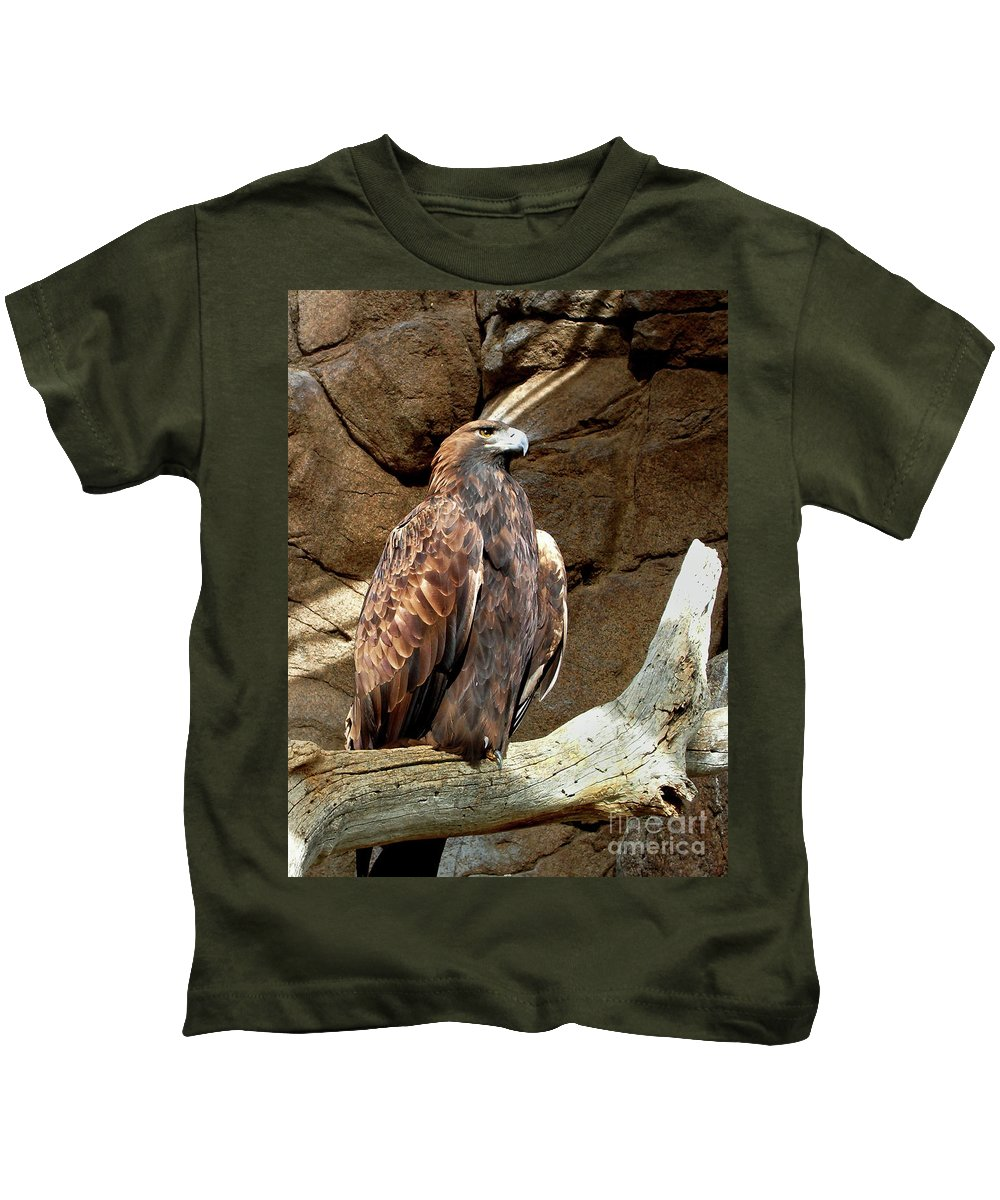Majestic Eagle Kids T-Shirt featuring the photograph Majestic Eagle by Mariola Bitner