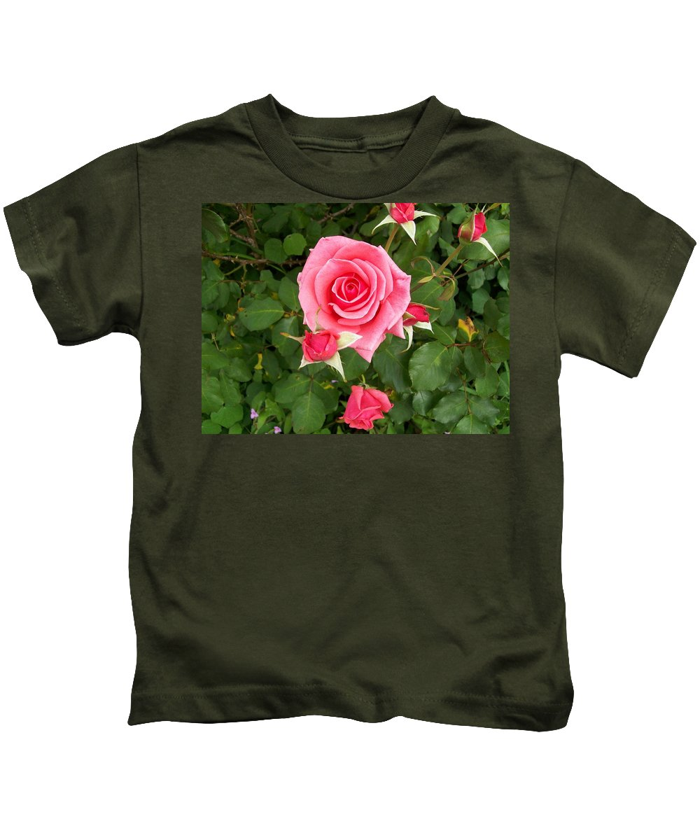 Rose Kids T-Shirt featuring the photograph Mama by Laurette Escobar