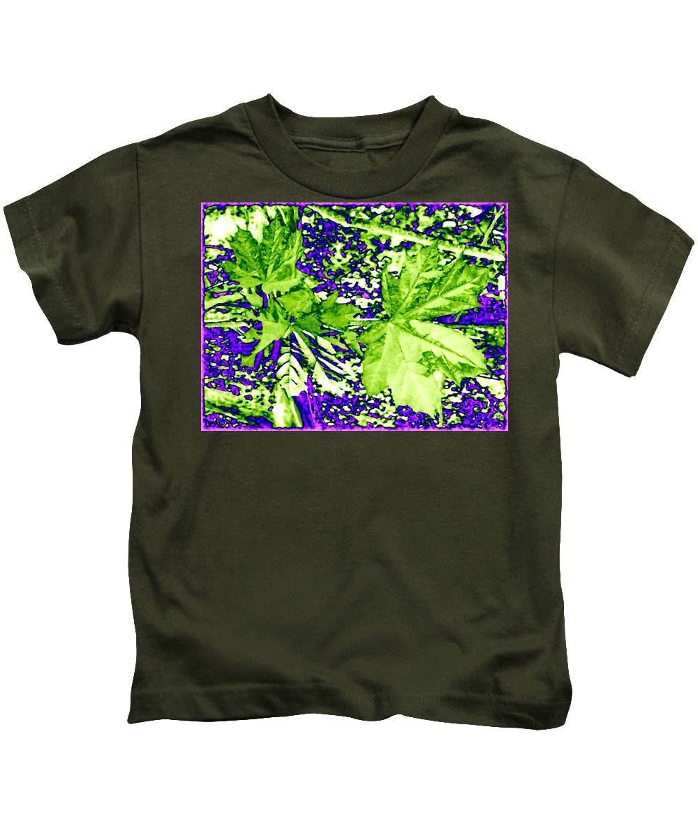 Maple Leaves Kids T-Shirt featuring the digital art Maple Mania 19 by Will Borden