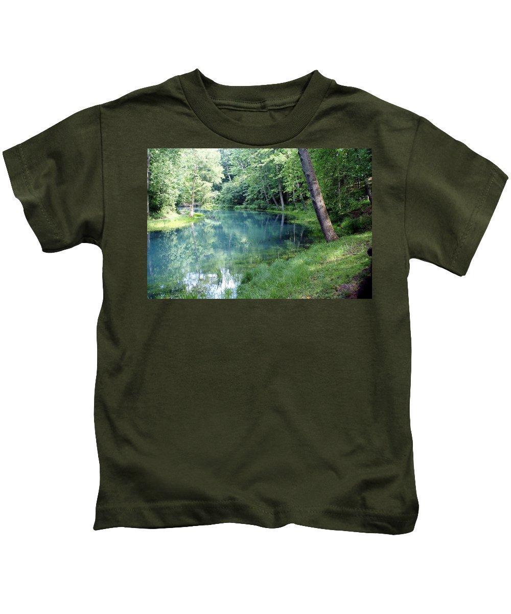 Maramec Springs Park Kids T-Shirt featuring the photograph Maramec Springs 1 by Marty Koch