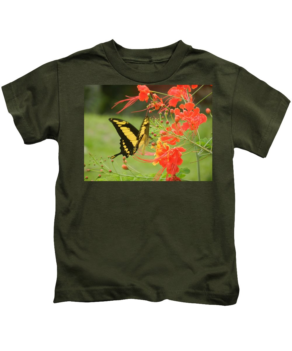 Butterfly Kids T-Shirt featuring the photograph Mariposa Amazonica by Rhonda Allbrandt