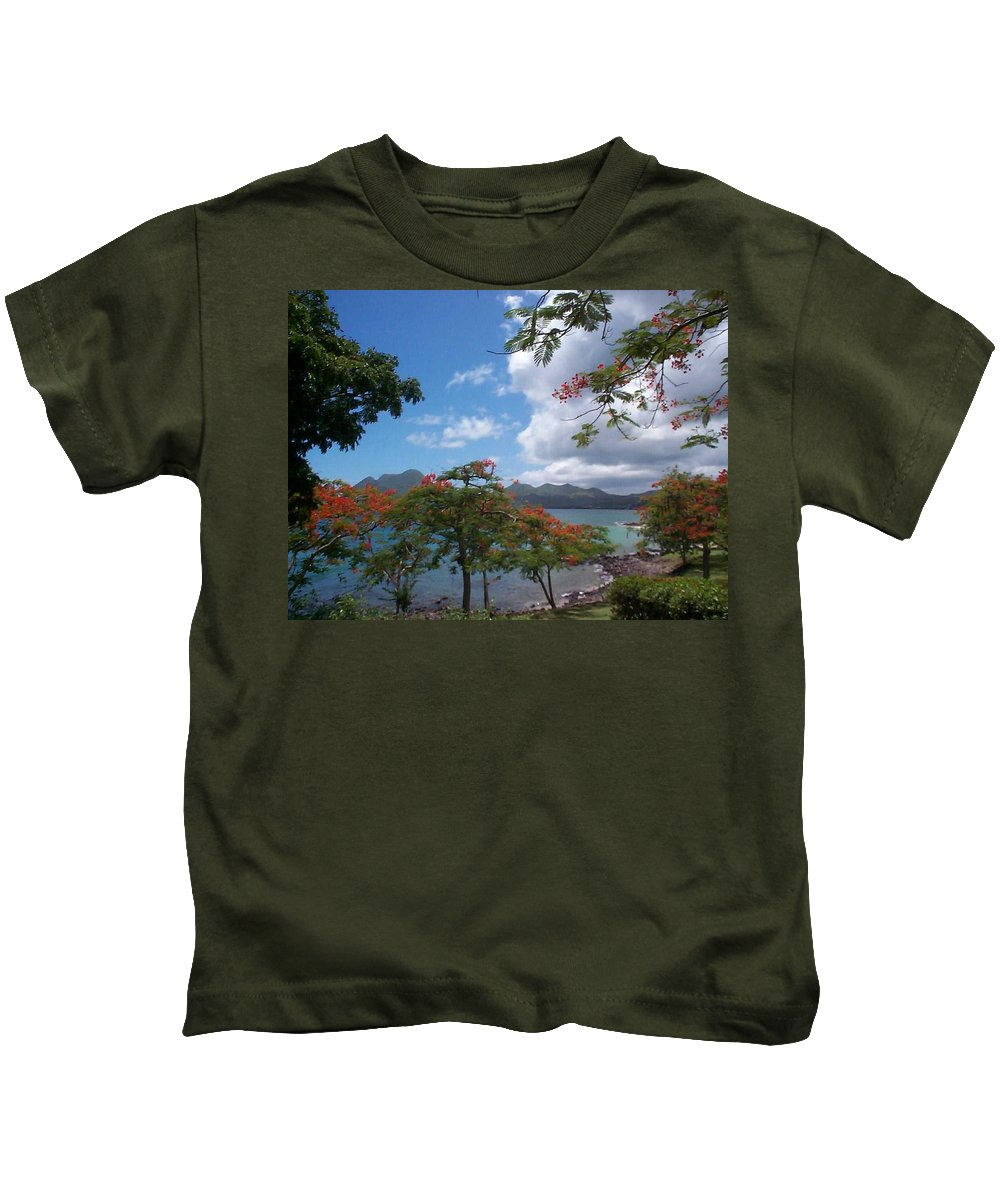 Donation Kids T-Shirt featuring the photograph Martinique by Mary-Lee Sanders