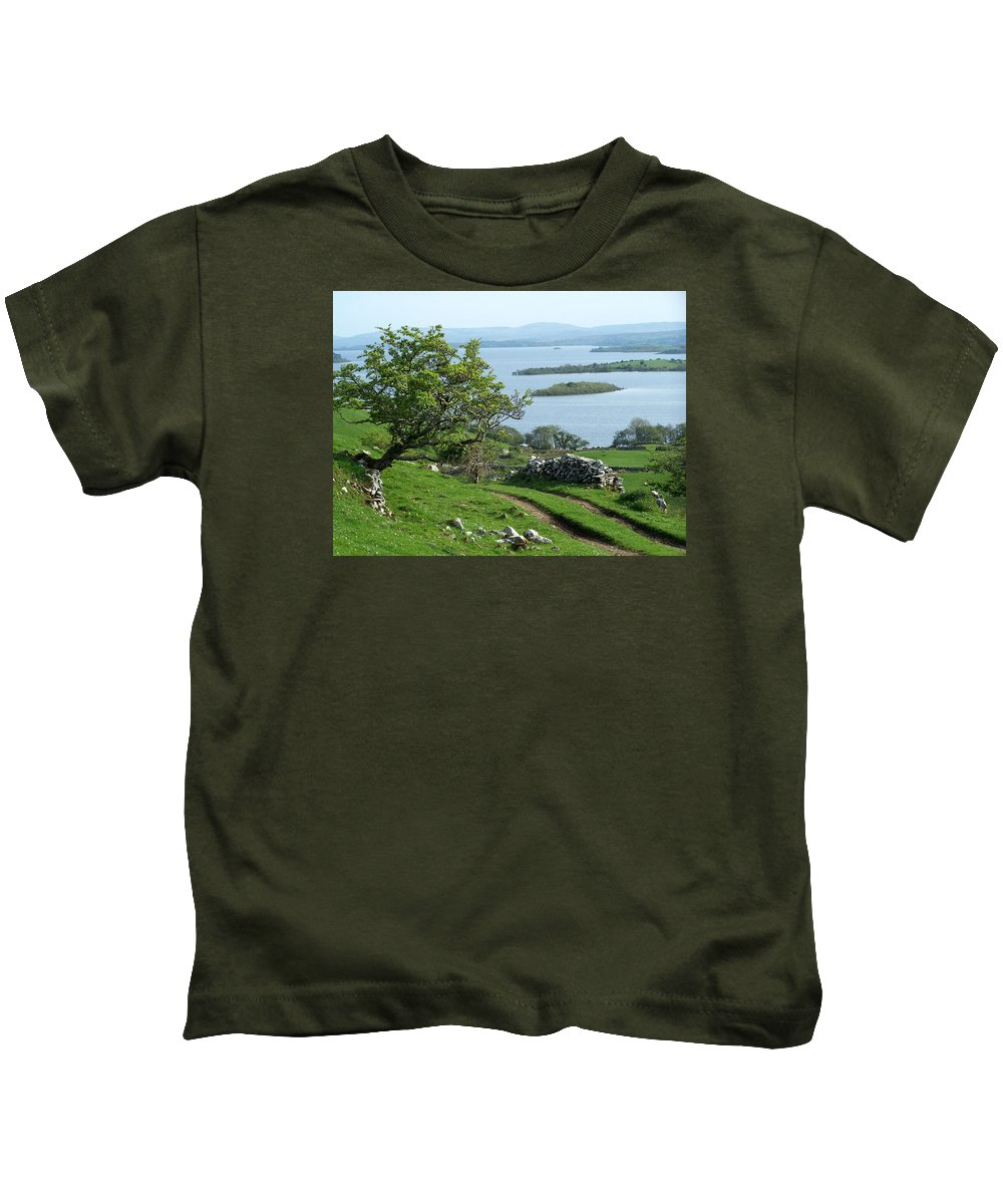 Ireland Kids T-Shirt featuring the photograph May The Road Rise To Meet You by Teresa Mucha
