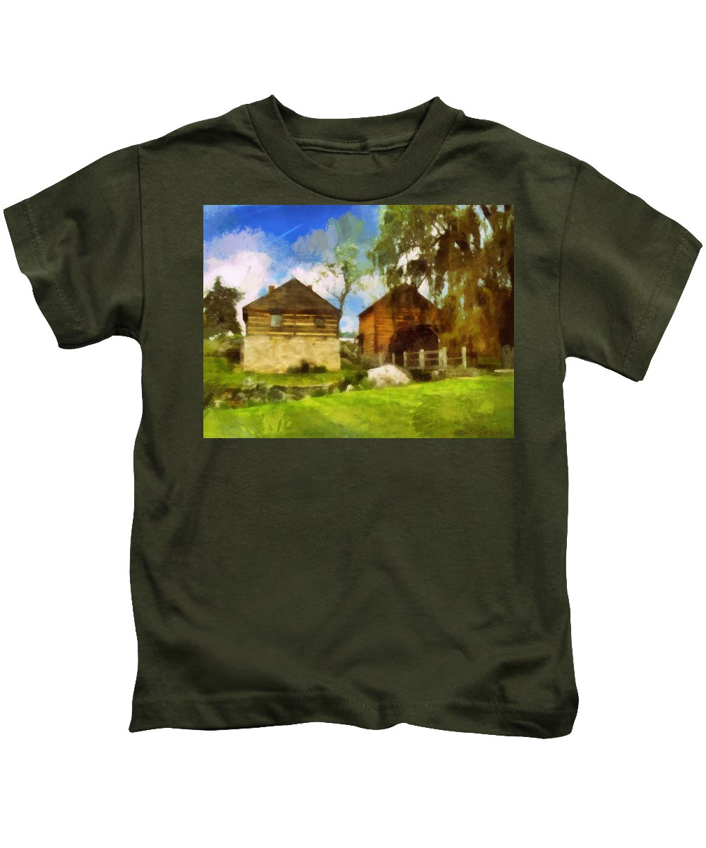Mccormick Kids T-Shirt featuring the photograph Mccormick Mill by Paulette B Wright