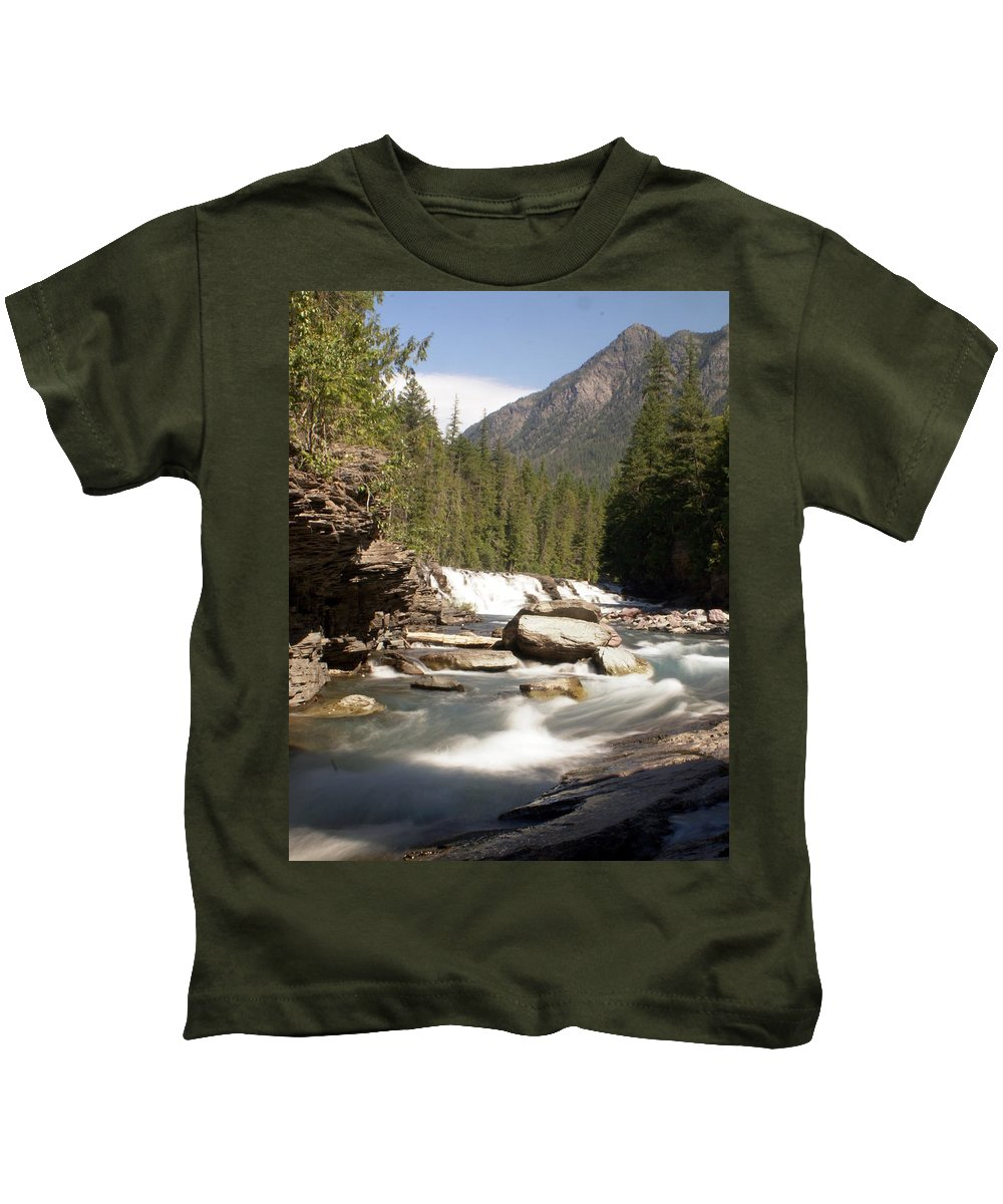 Stream Kids T-Shirt featuring the photograph Mcdonald Creek by Marty Koch