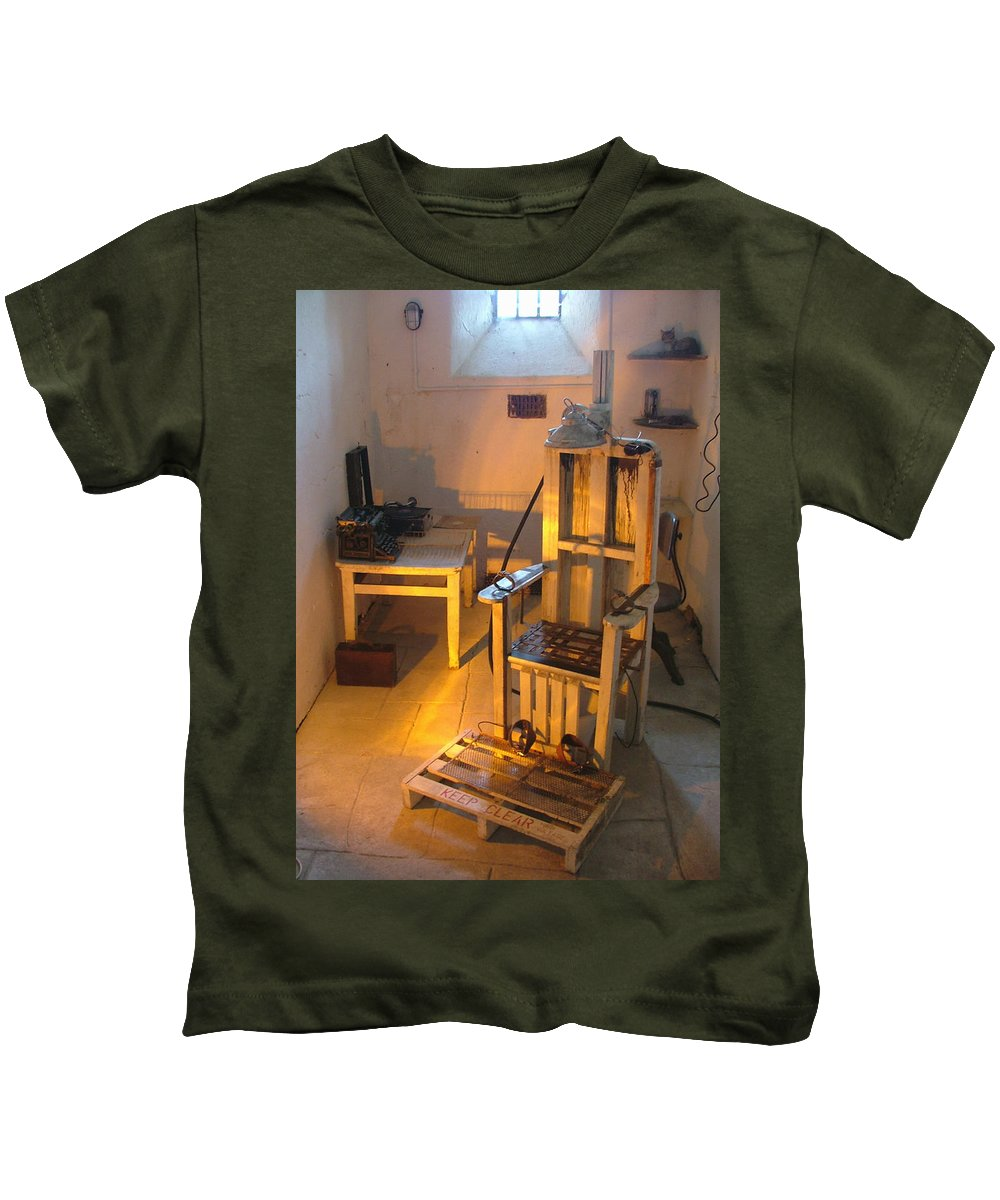 Halloween Kids T-Shirt featuring the photograph Medical Room by Heather Lennox