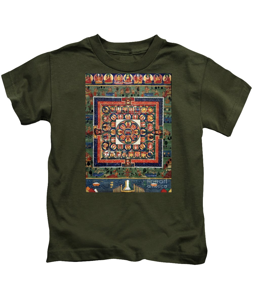 Witchcraft Kids T-Shirt featuring the digital art Medicine Buddha by Frederick Holiday