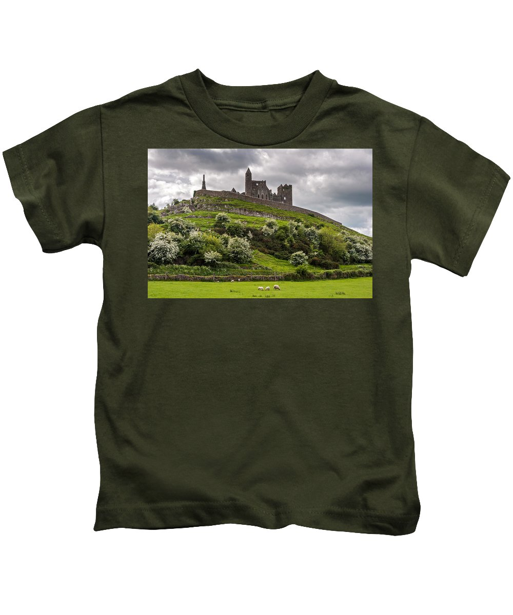 Ireland Kids T-Shirt featuring the photograph Medieval Rock Of Cashel Ireland by Pierre Leclerc Photography