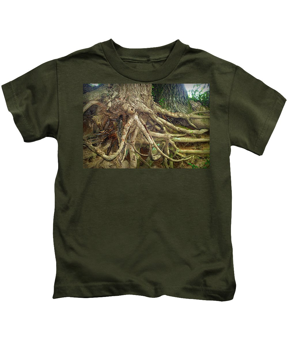 Tree Kids T-Shirt featuring the photograph Medusa by Cricket Hackmann