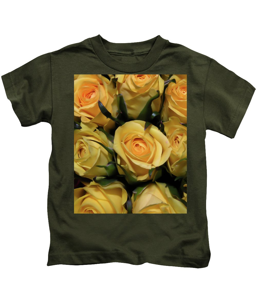 Kids T-Shirt featuring the photograph Mellow Yellow by Trish Tritz