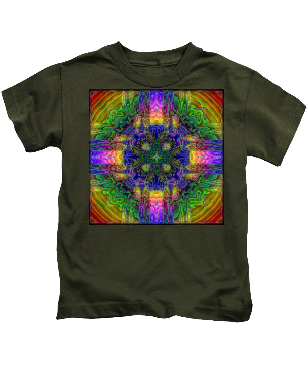 Kaleidoscope Kids T-Shirt featuring the digital art Melted by Lyle Hatch