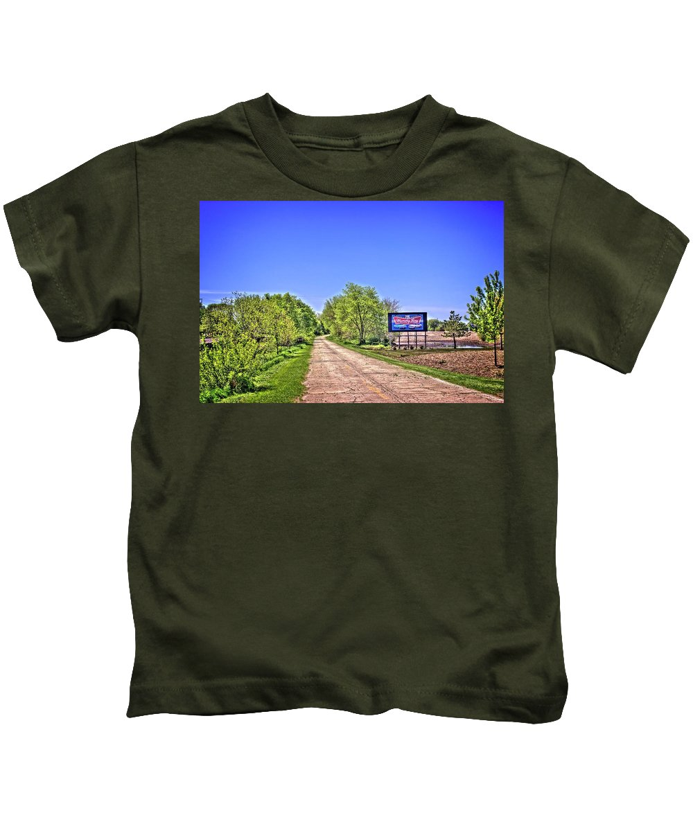 Lexington Kids T-Shirt featuring the photograph Memory Lane Opus 1 by Fred Hahn