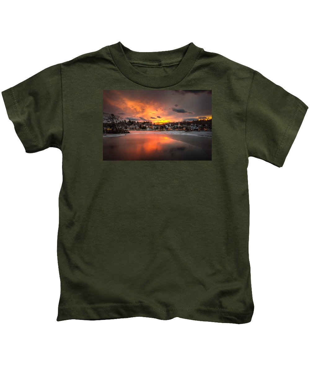 Meredith Kids T-Shirt featuring the photograph Meredith Sunset by Robert Clifford