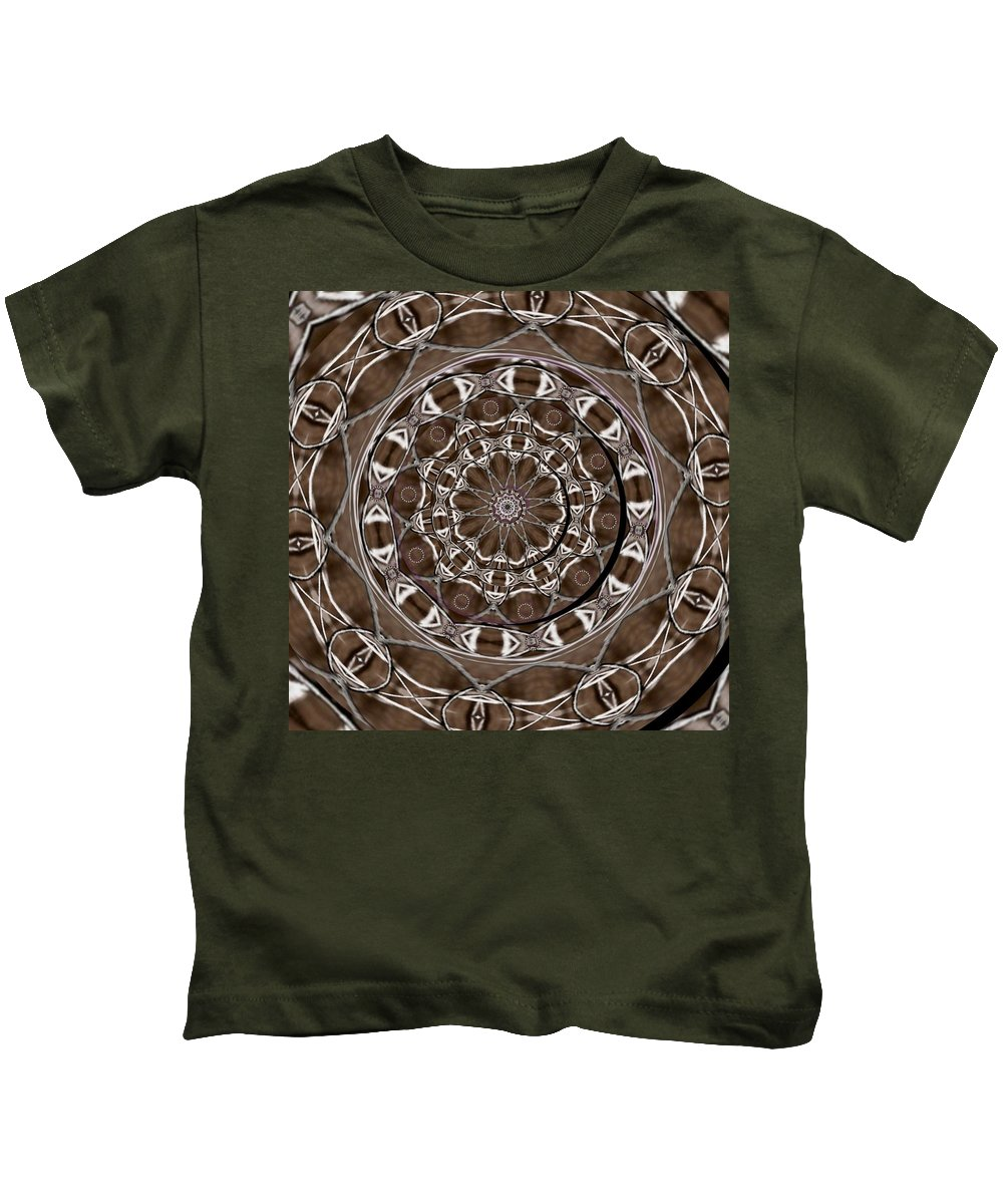 Celtic Kids T-Shirt featuring the mixed media Metal Art by Pepita Selles