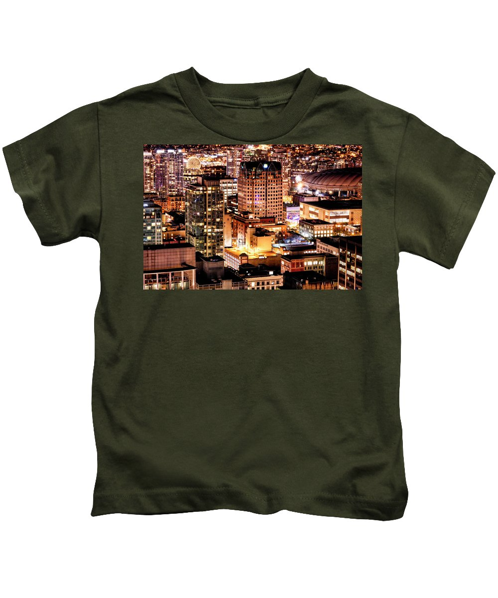 Vancouver Kids T-Shirt featuring the photograph Metropolis Vancouver Mdccxv by Amyn Nasser