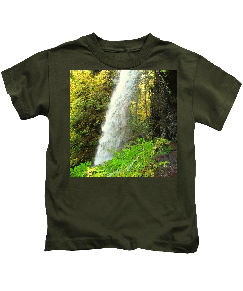 Clearwater Falls Kids T-Shirt featuring the photograph Middle North Falls by Ingrid Smith-Johnsen