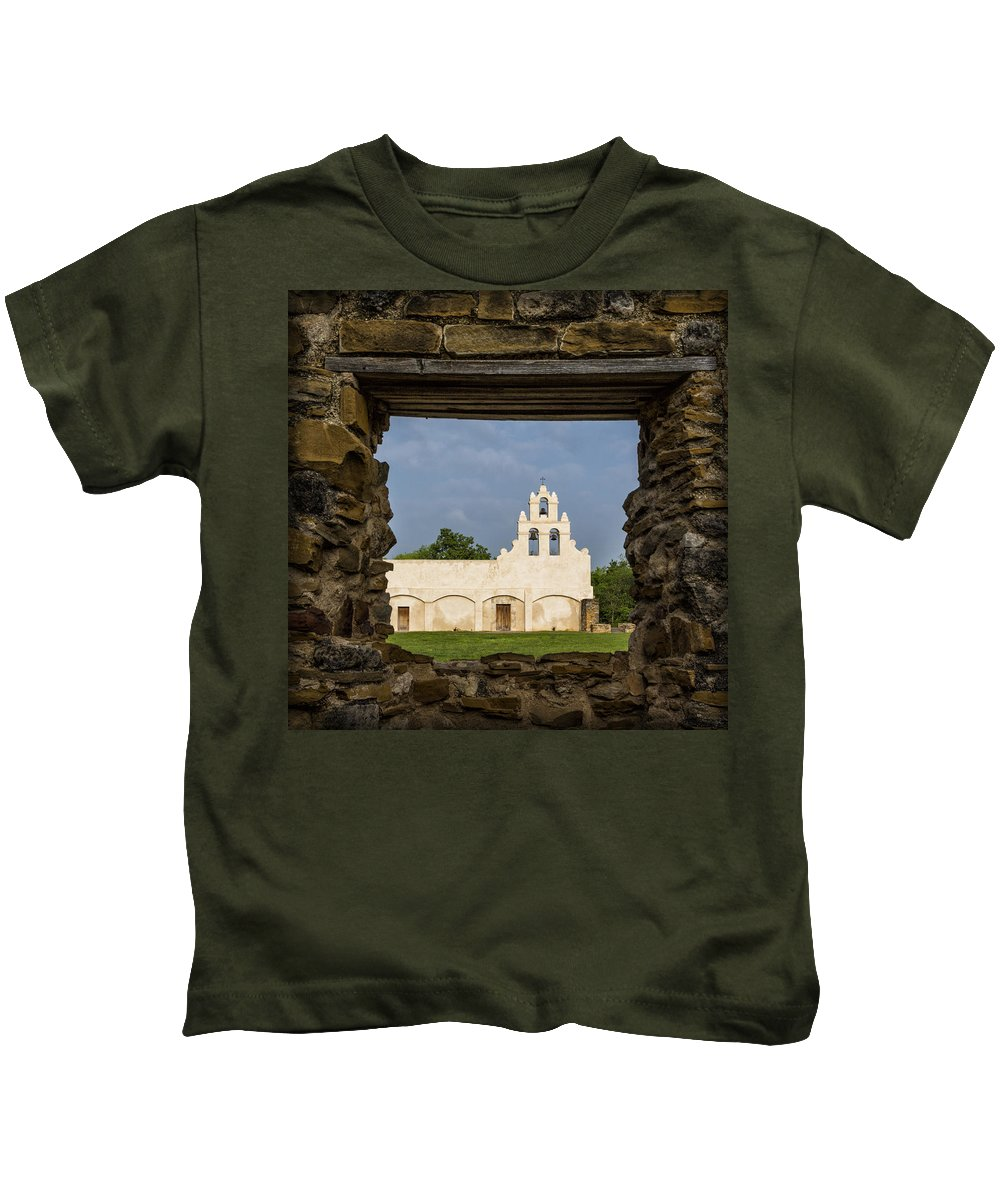 San Juan Capistrano Kids T-Shirt featuring the photograph Mission View by Stephen Stookey
