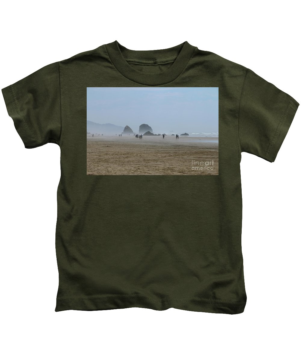 Oregon Kids T-Shirt featuring the photograph Misty Morning At Cannon Beach by Christiane Schulze Art And Photography
