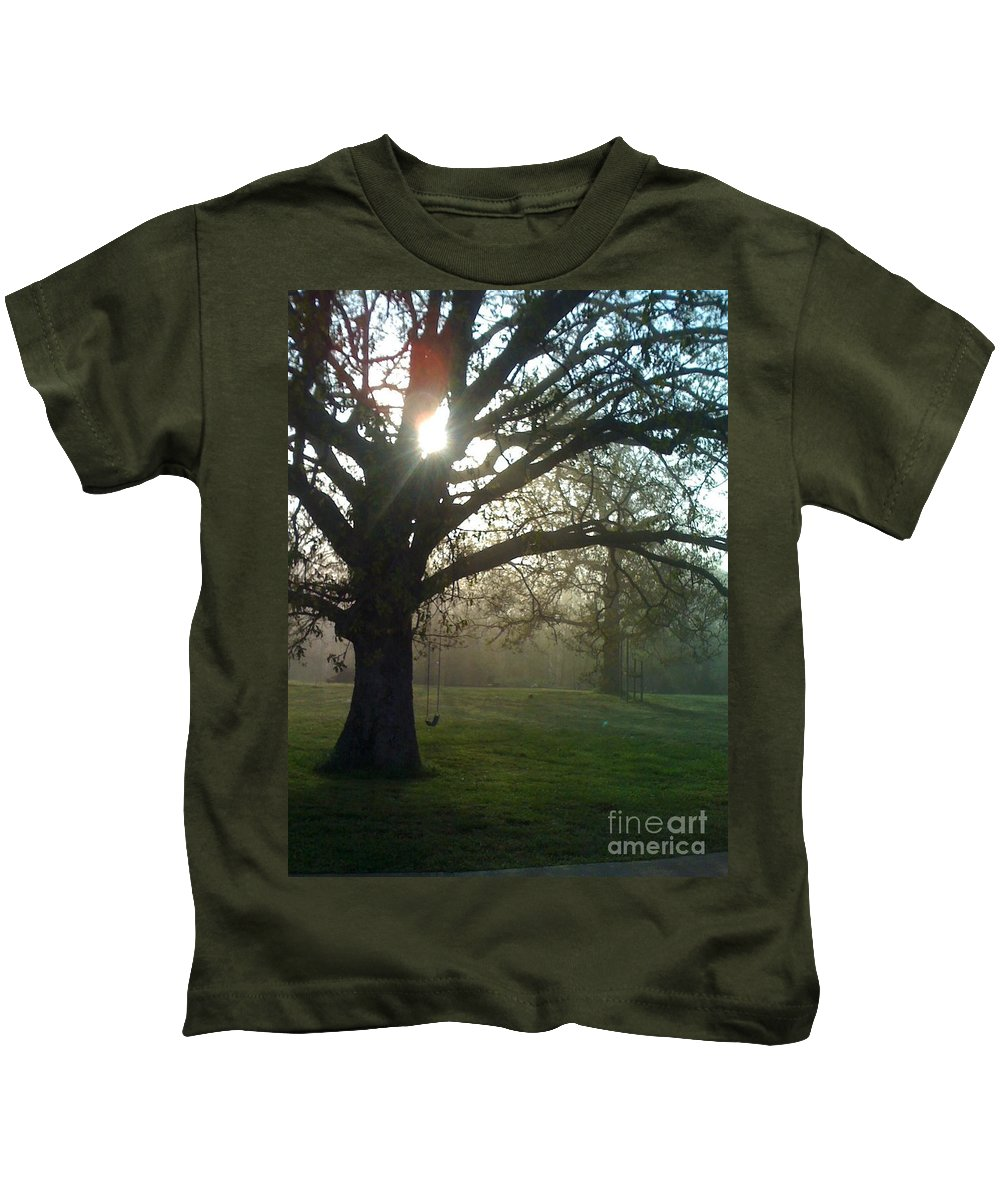 Mist Kids T-Shirt featuring the photograph Misty Morning by Nadine Rippelmeyer