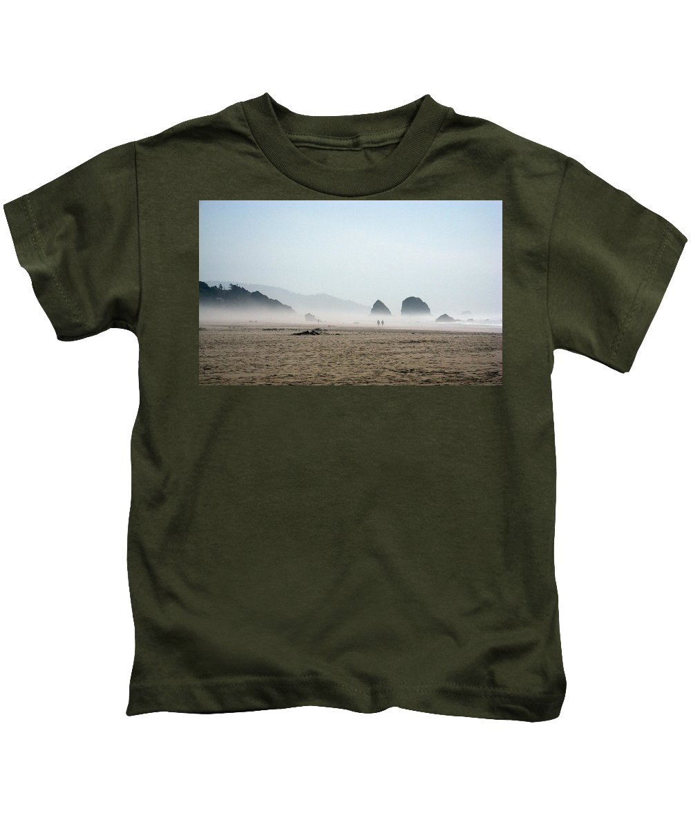Oregon Kids T-Shirt featuring the photograph Misty Morning Photograph by Kimberly Walker