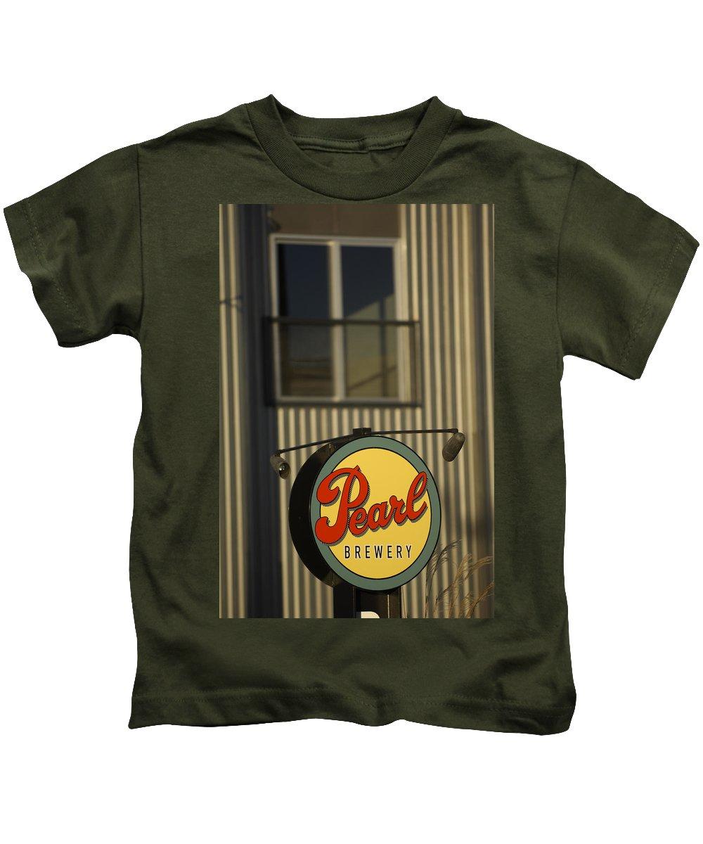 Sign Kids T-Shirt featuring the photograph Mmmm Beer by Jill Reger