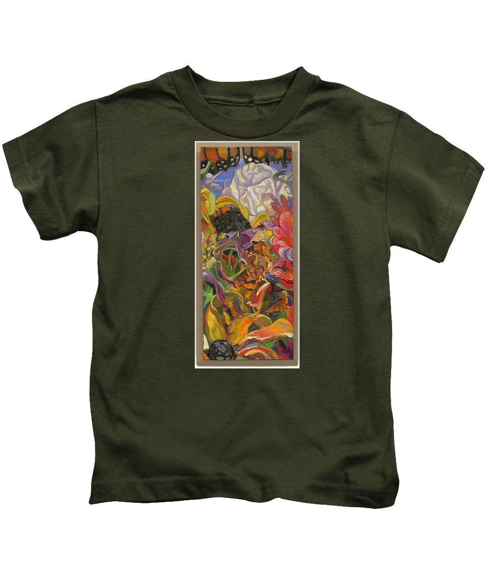 Flowers Kids T-Shirt featuring the painting Monarch Mountain by Juel Grant