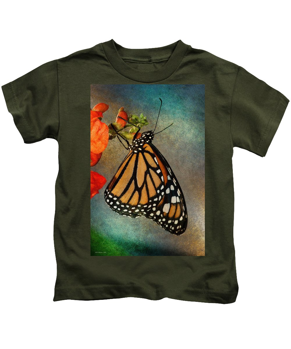Butterfly Kids T-Shirt featuring the photograph Monarch by WB Johnston