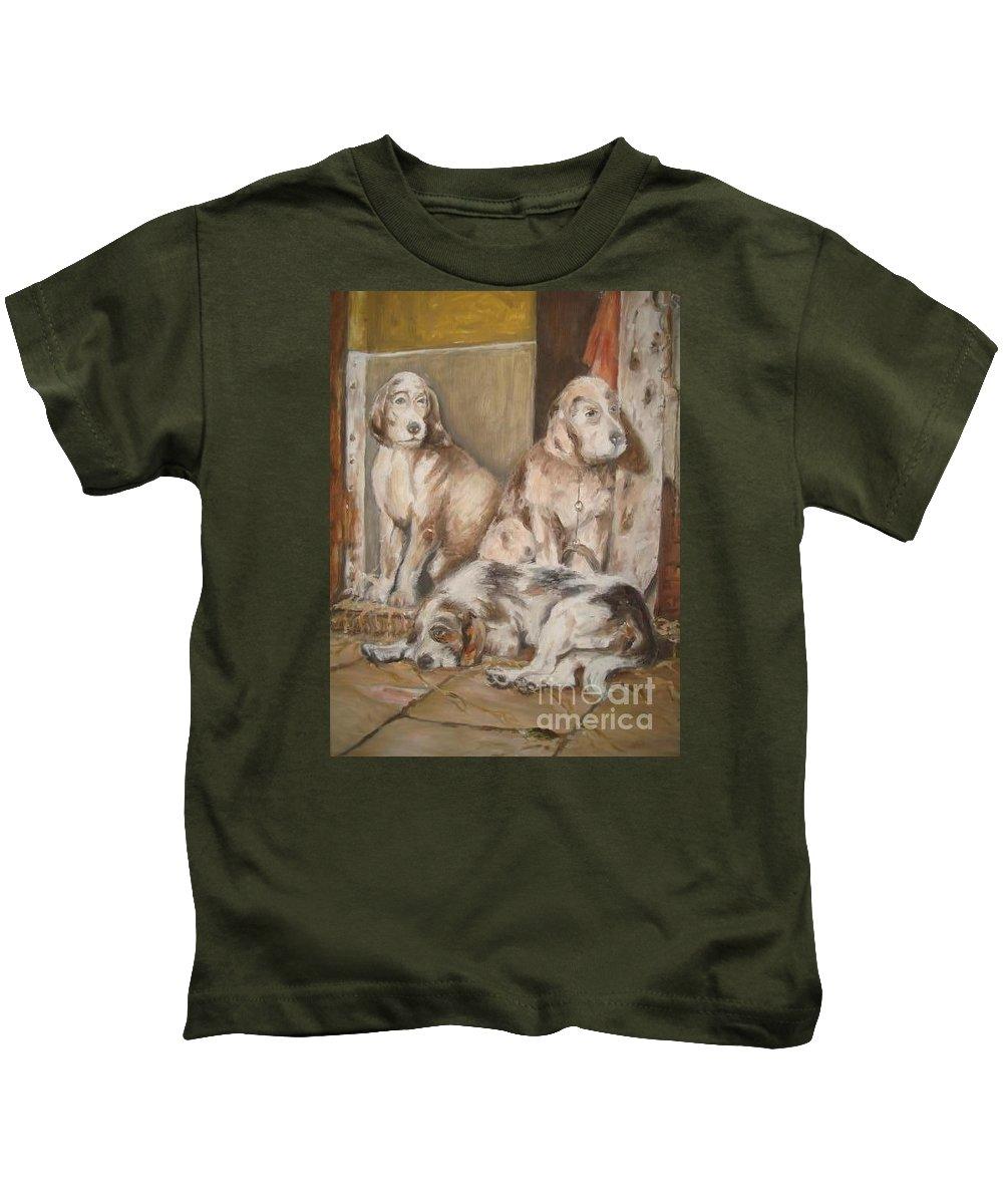 Realistic Kids T-Shirt featuring the painting Monotony by Rushan Ruzaick