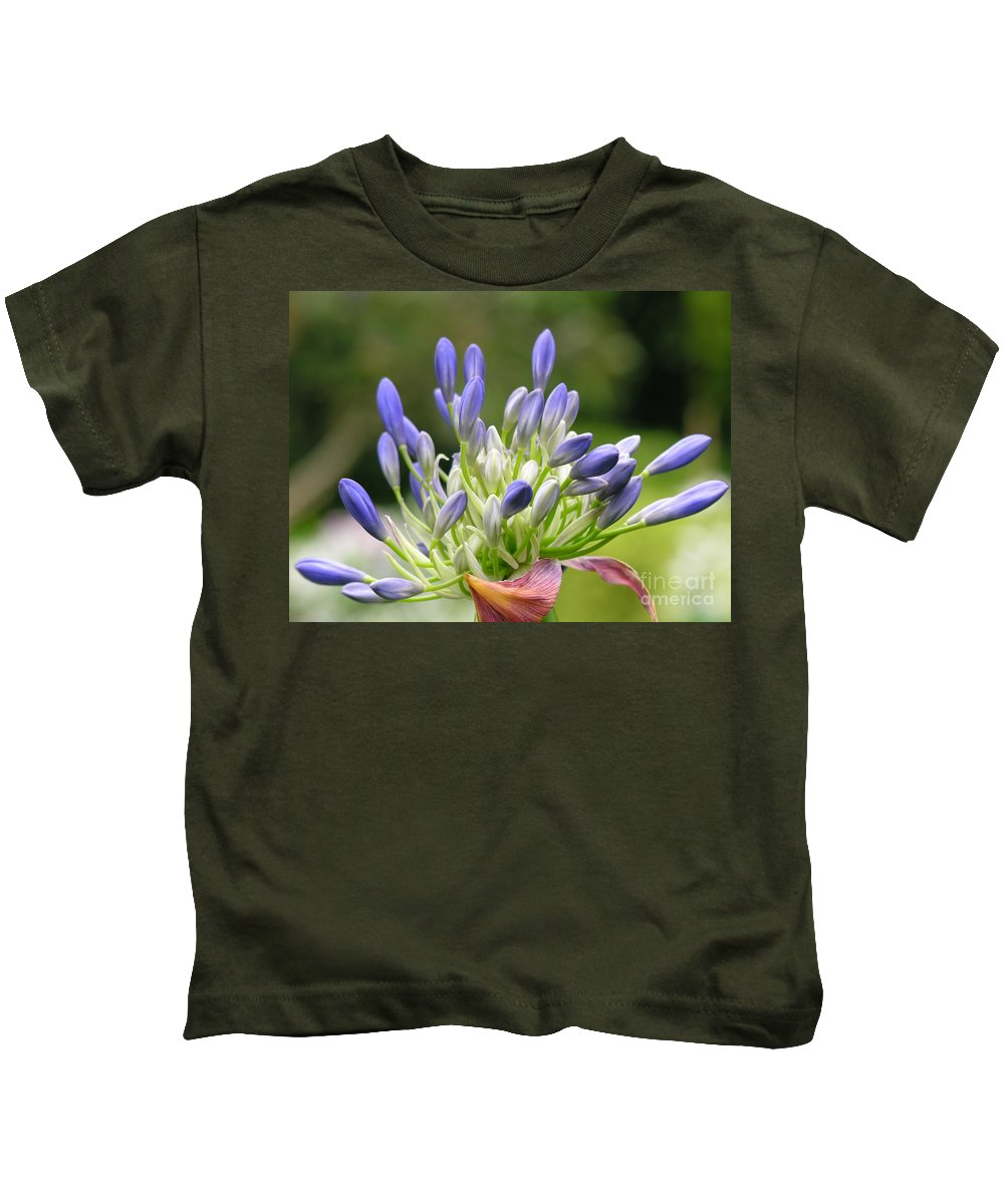 Purple Kids T-Shirt featuring the photograph Montana Flower by Diane Greco-Lesser