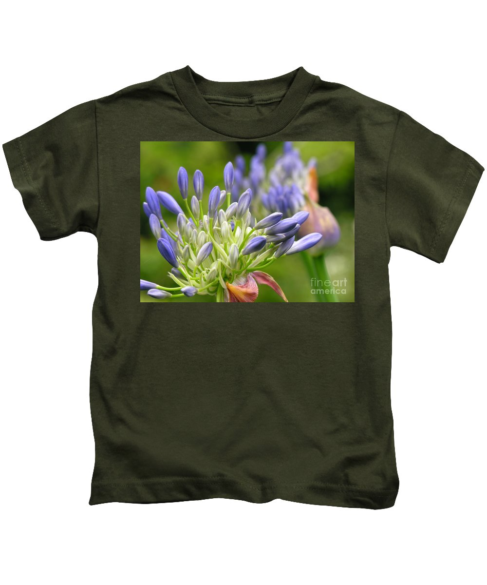 Blue Kids T-Shirt featuring the photograph Montana Purple And Blue by Diane Greco-Lesser