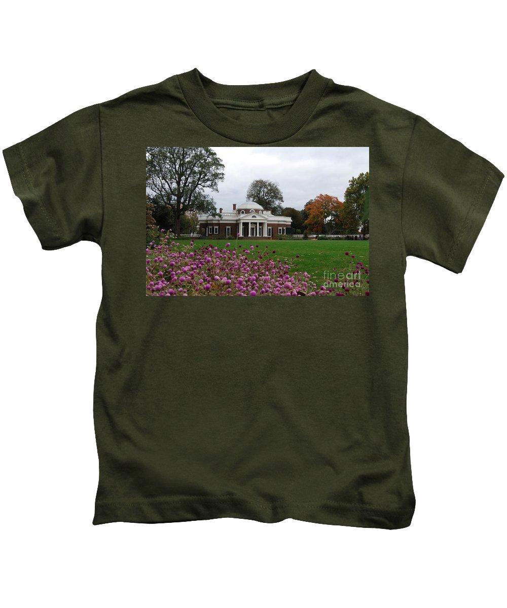 Fall Kids T-Shirt featuring the photograph Monticello by Eric Liller